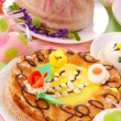 Easter pastries on the table — Stock Photo