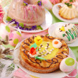 Stock Photo: Easter pastries on table