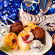 Muffins on party table — Stock Photo #4581200