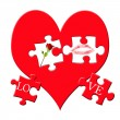 Valentine`s puzzle — Stock Photo #4610187