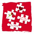 Stock Photo: Love puzzle