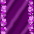 Valentine`s frame on purple background — Stock Photo