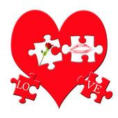 Valentine`s puzzle — Foto de Stock