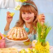 Young girl in easter time — Stock Photo #4629849