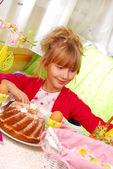 Young girl in easter time — Stock Photo