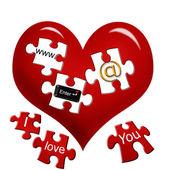 E-love — Foto de Stock