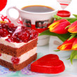 Valentine`s day party — Stock Photo