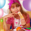 Young girl on the party — Stock Photo