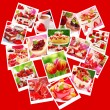 Sweet valentine`s party-collage - Stock Photo