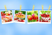 Sweet love collection against blue sky — Stock Photo