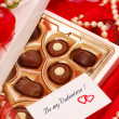 Chocolates for Valentine — Stock Photo
