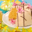 Almond ring cake for easter — Stock Photo #4942619