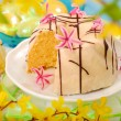 Stock Photo: Almond ring cake for easter