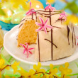 Almond ring cake for easter — Stock Photo #4942628