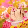 Almond ring cake for easter — Stock Photo #4942638