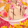 Almond ring cake for easter — Stock Photo #4942641