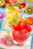 Melon and watermelon juice — Stock Photo