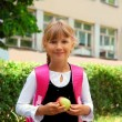 Young girl going to school — Stock Photo #4956978