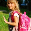 Young girl going to school — Stock Photo