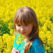 Royalty-Free Stock Photo: Young girl in rape field