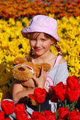 Young girl in spring time — Stock Photo