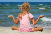 χαλαρώνετε σε μια παραλία — Φωτογραφία Αρχείου