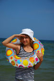 Young girl on holidays — Stock Photo