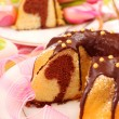 Marble ring cake for easter — Stock Photo #4969131