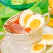 Easter white borscht ( zurek ) — Stock Photo