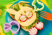 Easter sandwich for child — Stockfoto