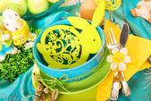 Ostern tischdekoration — Stockfoto