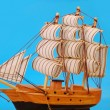 Model of tall sailing ship — Stock Photo