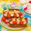 Funny easter breakfast for child — Stock Photo #5180443