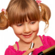 Little girl and make up — Stock Photo #5180448