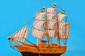 Model vysokých plachetnice — Stock fotografie