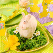 Easter table decoration - Stock Photo
