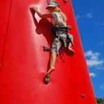 Young girl climbing — Stock Photo #5332121