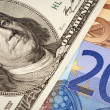 Stock Photo: Dollars USand euro