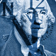 George Washington  one dollar bill — Stock Photo