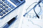 účetnictví, duální tón — Stock fotografie