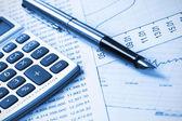 Accounting,dual tone — Stock Photo