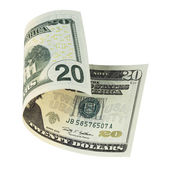 Twenty dollar banknote — Stock Photo