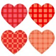 Checkered vector hearts — Stock Vector #4671024