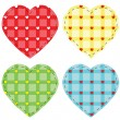 Checkered vector hearts — Stock Vector #4671026
