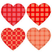 Checkered vector hearts — Stock Vector
