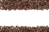Coffee beans stripes, isolated — Stock Photo