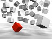 Falling Cubes — Stock Photo