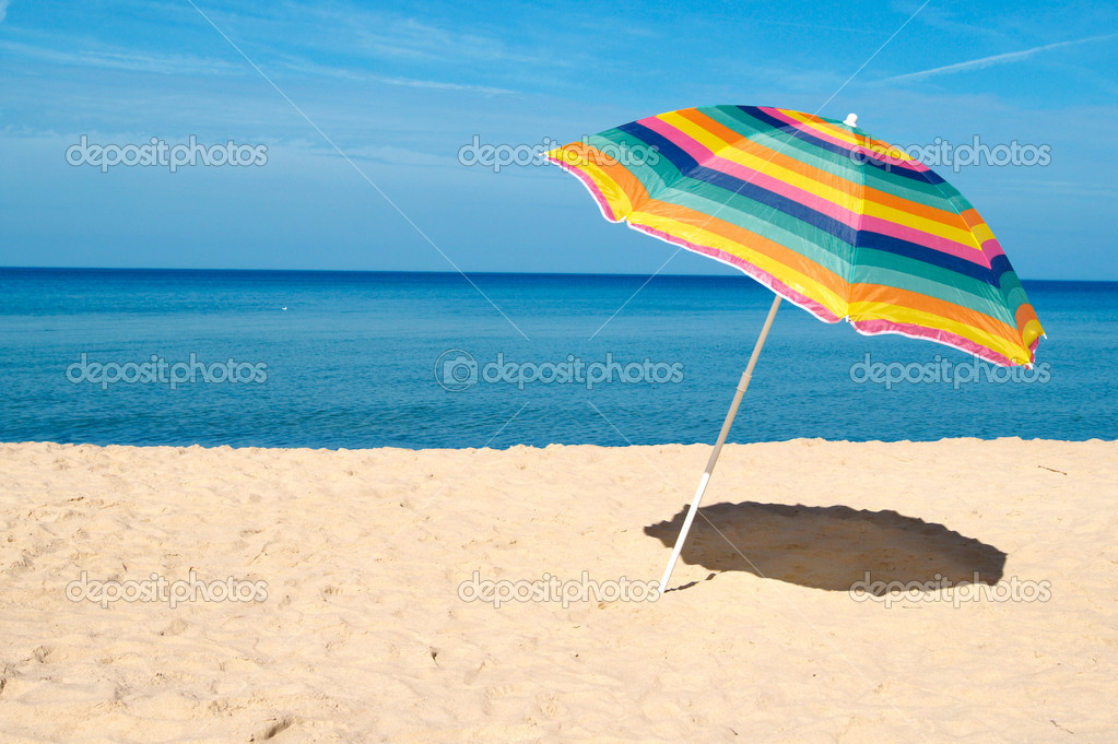 Beach umbrella stock photo 169 threeart 4659453