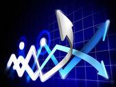 Gráficos de ações — Fotografia Stock