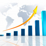 World Business 3D Graph — Stock Photo